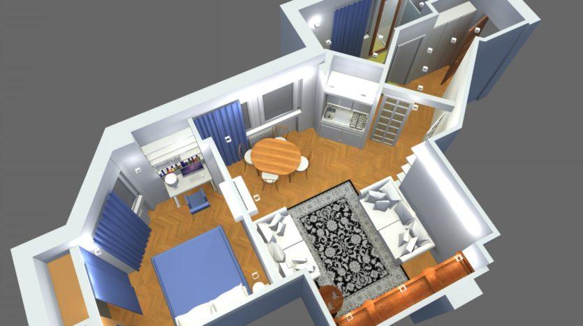 Affittasi appartamento ristrutturato via Crispi uso transitorio